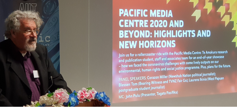 Philip Cass speaking at Pacific Media Centre 2020 and Beyond